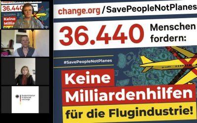 Aktion gegen Rettungspaket für Lufthansa