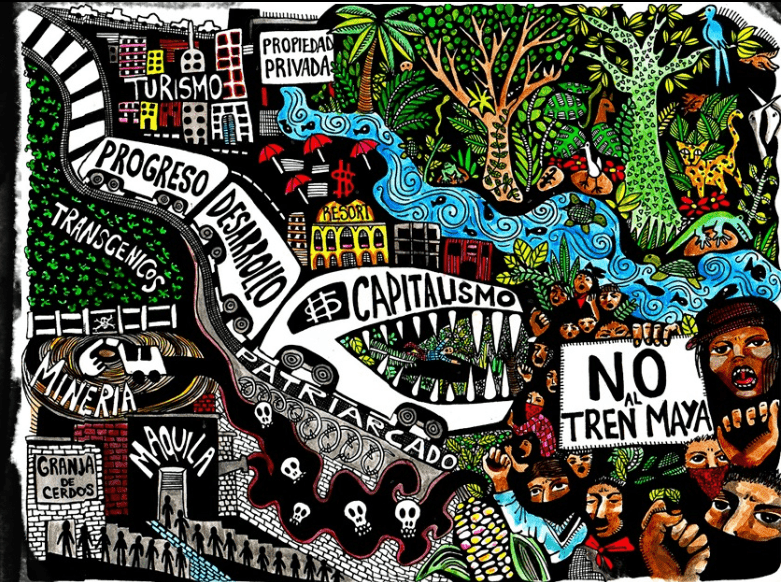 The Zapatistas' grounded travel & anti-airport struggles